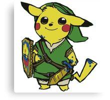 Pikachu pokemon Zelda Canvas Print