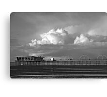 Pier and Clouds Canvas Print