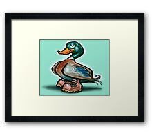 Duck in Work Boots Framed Print