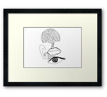 tenth sense - generativity (stream of consciousness) Framed Print