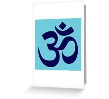 Aum Blue Greeting Card