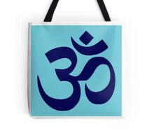 Aum Blue Tote Bag