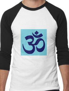 Aum Blue Men's Baseball ¾ T-Shirt