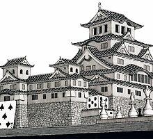 Himeji Castle by CaptainIke