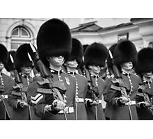 Queens Guards Windsor B & W Photographic Print