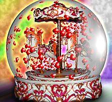 Carousel Heart Globe by GolemAura