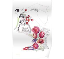 Spring. Spring and tulips... Poster