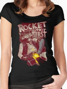 First Shot Parody Women's Fitted Scoop T-Shirt