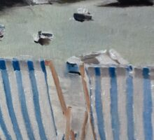 Deck Chairs at St Ives Sticker