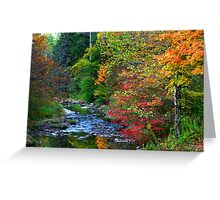 Scenic Autumn landscape Greeting Card