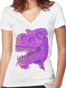 Stoner Rex Women's Fitted V-Neck T-Shirt