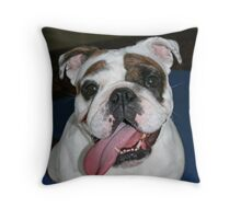 This is Svea - a 2 year old English Bulldog Throw Pillow