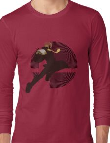 Captain Falcon (Smash 4, Knee of Justice) - Sunset Shores Long Sleeve T-Shirt