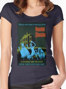 Haunted Mansion Women's Fitted Scoop T-Shirt