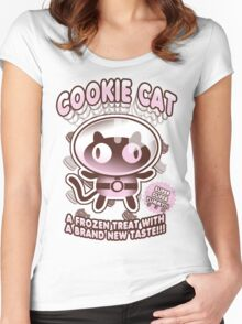 Cookie Cat Parody Women's Fitted Scoop T-Shirt