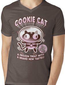 Cookie Cat Parody Mens V-Neck T-Shirt