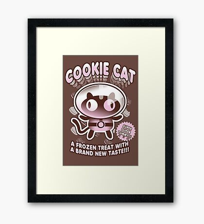 Cookie Cat Parody Framed Print