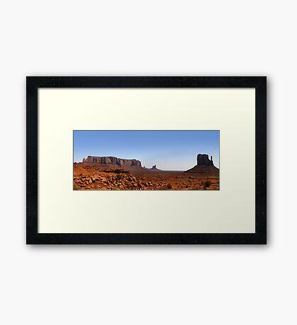 Desert landscape in the Arizona Framed Print