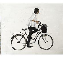 Girl on a Bike Photographic Print