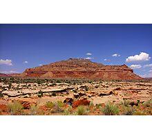 Desert landscape Photographic Print