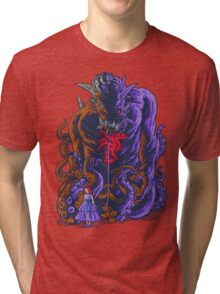 Demon and Child Tri-blend T-Shirt