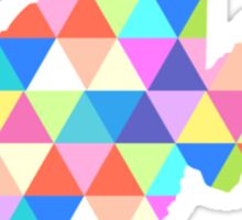 West Virginia Colorful Triangles Hipster Geometric Sticker