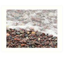 Pebble Beach at Lake Superior Art Print