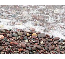 Pebble Beach at Lake Superior Photographic Print
