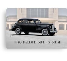 1940 Packard Super 8 Sedan w Text Canvas Print