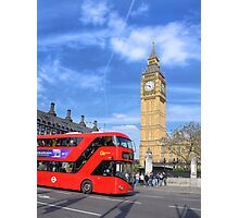 Big Ben and a London Bus Photographic Print