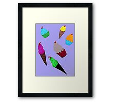 Cupcakes and Ice Cream Cones Framed Print