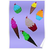 Cupcakes and Ice Cream Cones Poster