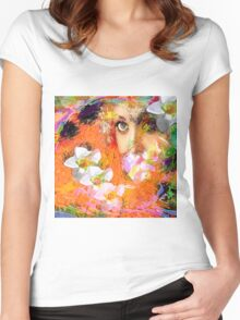 """"""" The queen of flowers """" Women's Fitted Scoop T-Shirt"""
