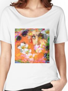 """"""" The queen of flowers """" Women's Relaxed Fit T-Shirt"""