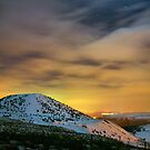 Night snow on the mountain by Cat Perkinton