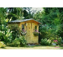 Garden Chalet Photographic Print