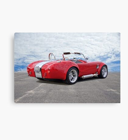 1966 Shelby Cobra 3Q Rear View Canvas Print
