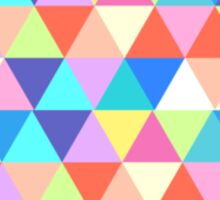 Missouri Colorful Hipster Geometric Triangles Sticker
