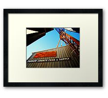 Parker County Feed & Supply Framed Print