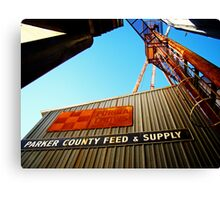 Parker County Feed & Supply Canvas Print