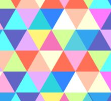 Nebraska Colorful Hipster Geometric Triangles Sticker