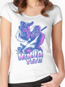 Ninja Yeti Women's Fitted Scoop T-Shirt