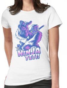 Ninja Yeti Womens Fitted T-Shirt