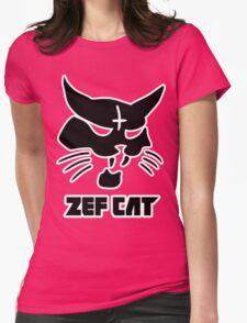 Zefcat (black) Womens Fitted T-Shirt