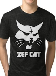Zefcat (white) Tri-blend T-Shirt