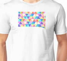 South Dakota Colorful Hipster Geometric Triangles Unisex T-Shirt