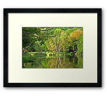 On Green Lake Framed Print