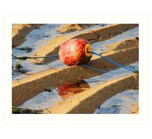 Red buoy on a Bali Beach Art Print