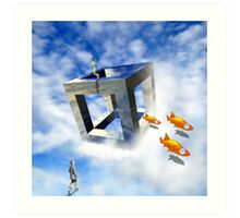 Flight of the Goldfish Art Print