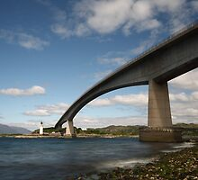 Skye Bridge and Kyleakin Lighthouse by Maria Gaellman